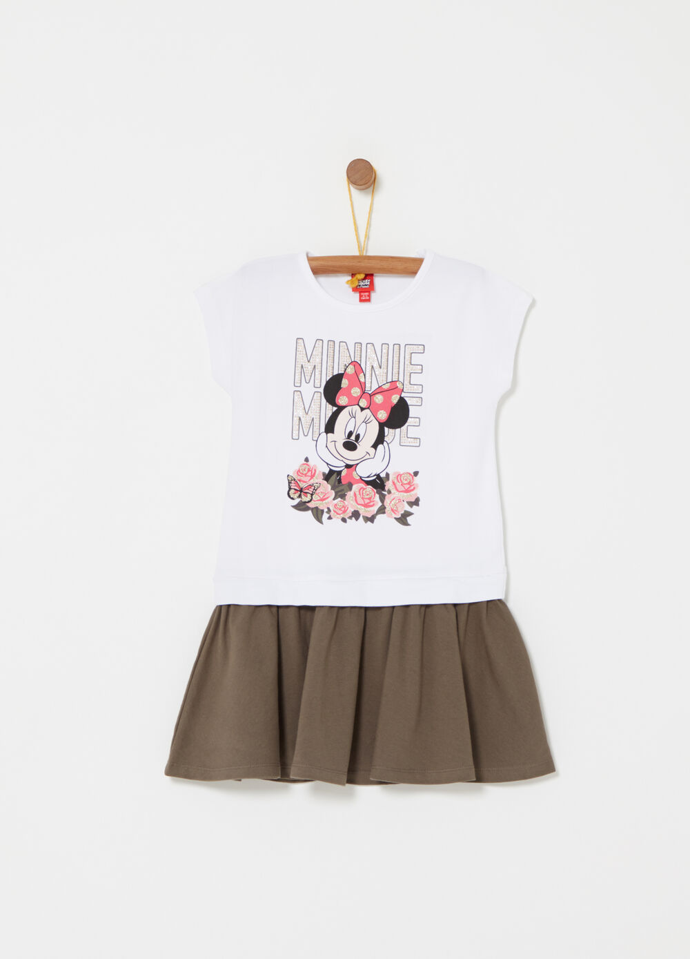 Sleeveless dress with Disney Minnie Mouse print