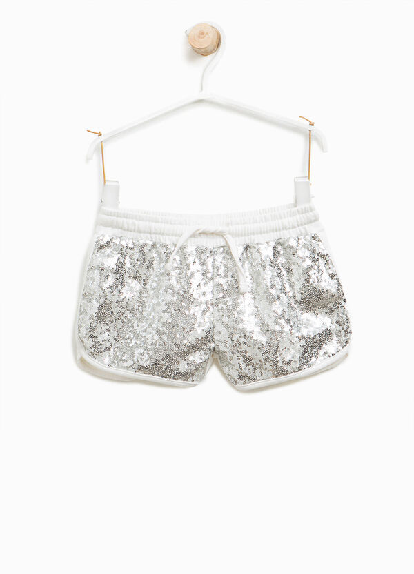 Shorts in cotton with sequins | OVS