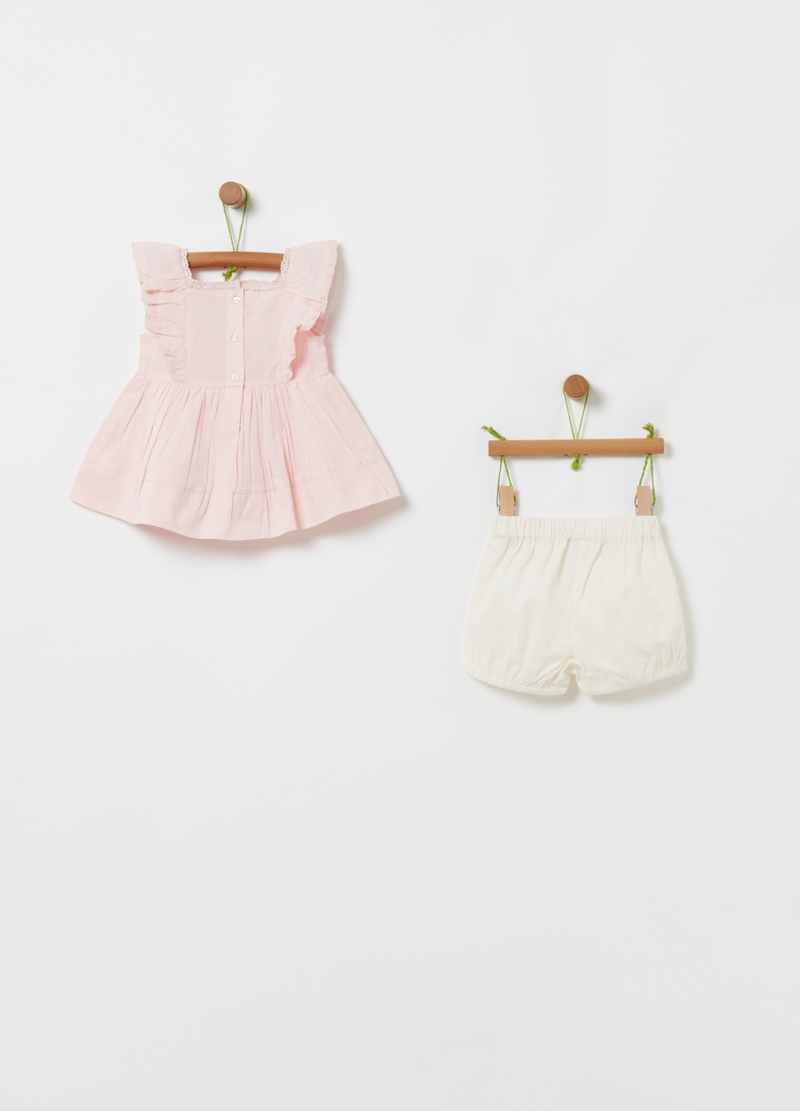 Set top e shorts puro cotone bio image number null