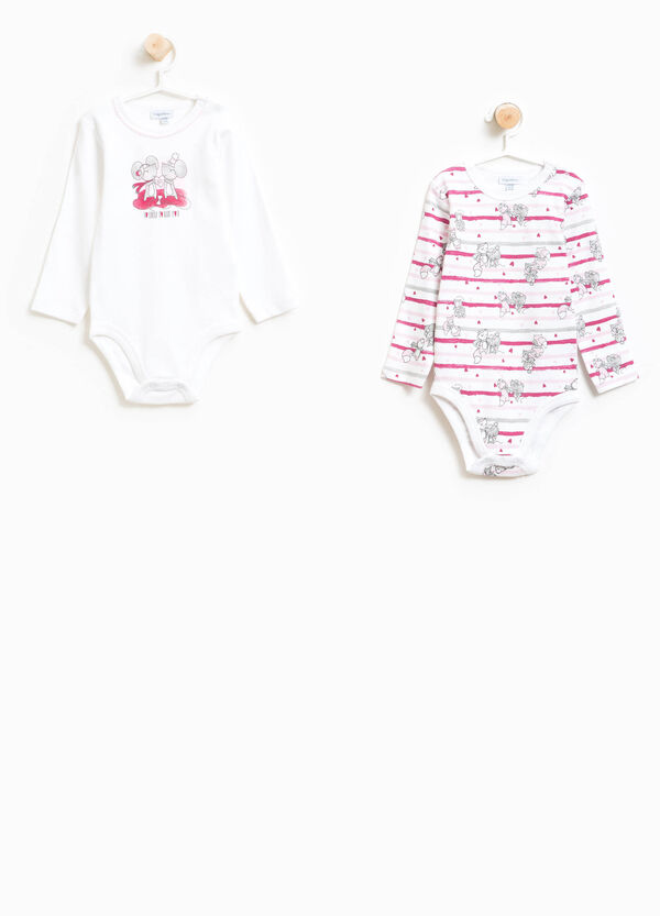 Two-pack patterned bodysuits in 100% cotton | OVS