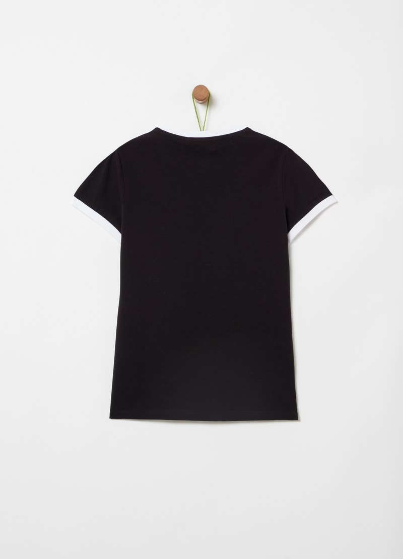Organic cotton T-shirt with print image number null