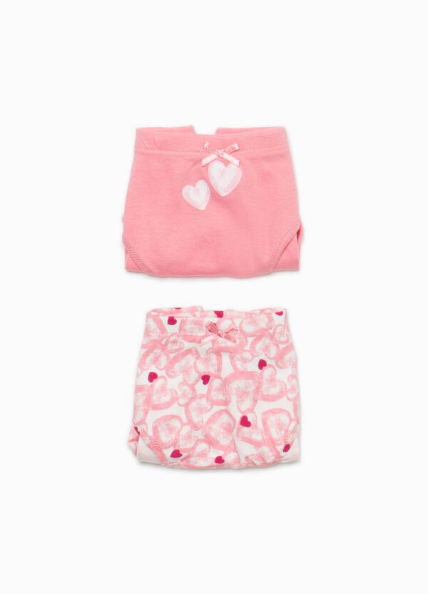 Two-pack printed and heart patterned briefs | OVS