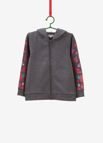 100% cotton sweatshirt with floral print
