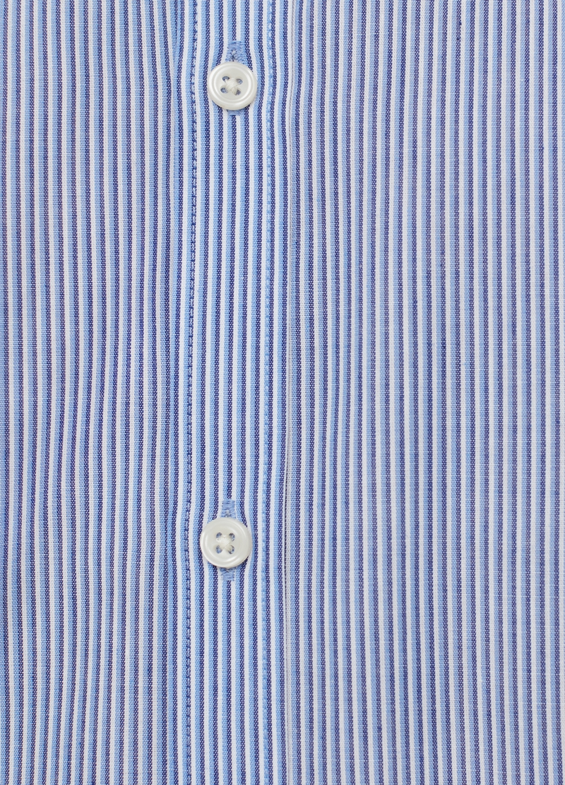 Camicia slim fit colletto francese a righe image number null