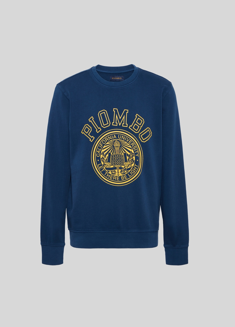PIOMBO 100% cotton sweatshirt with lettering print image number null