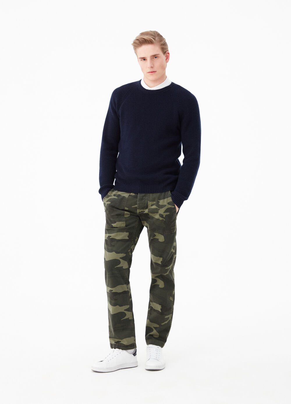 Regular-fit camouflage trousers