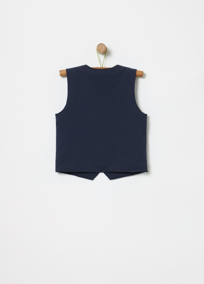 Stretch organic cotton gilet image number null
