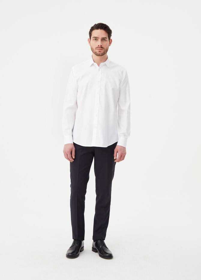 Regular-fit shirt with rounded cuffs