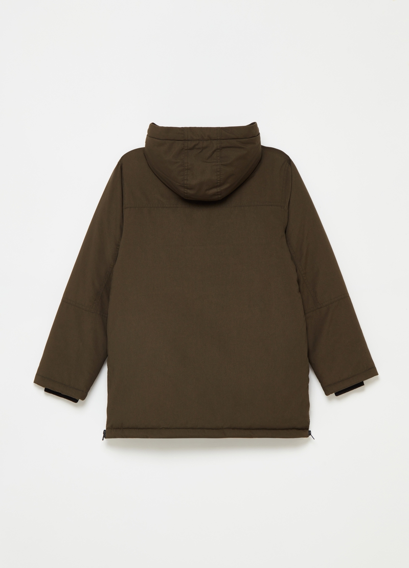 Padded parka with hood image number null