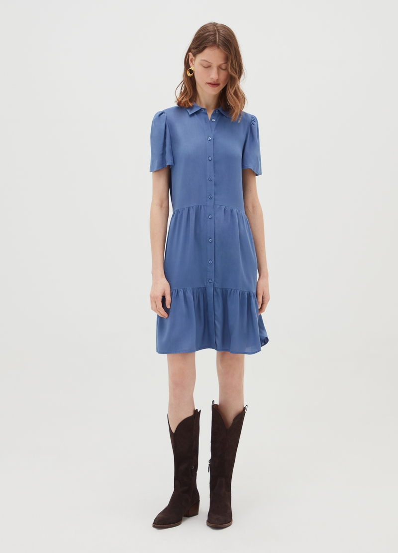 100% viscose dress with splits image number null