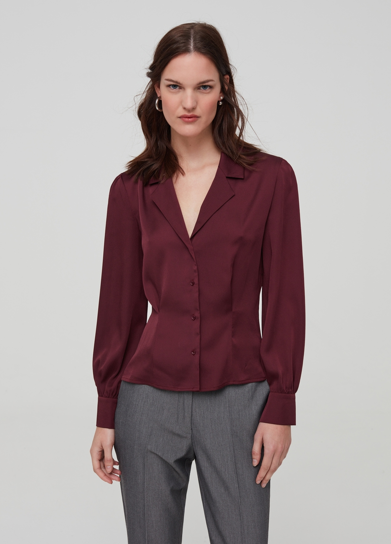 Fit & flare shirt with buttons image number null