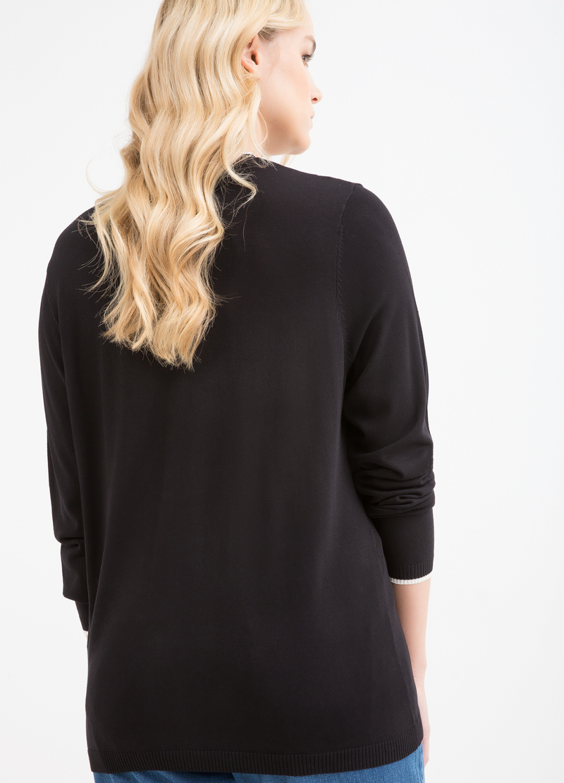 Curvy viscose cardigan with pockets image number null