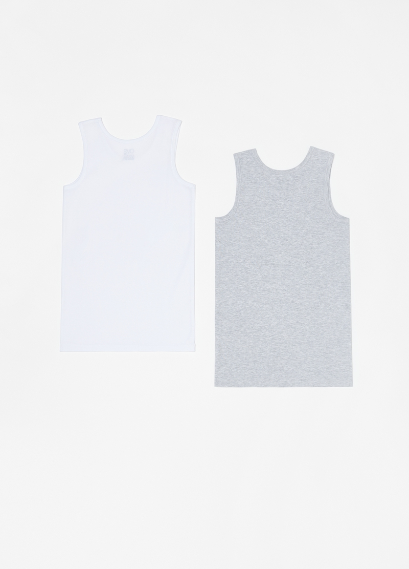 Two-pack racerback vests with wide straps image number null
