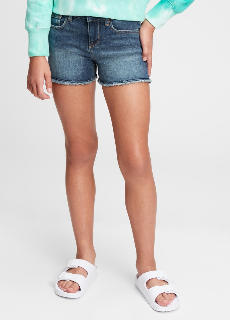 GAP Shorts in denim con orlo a vivo image number null