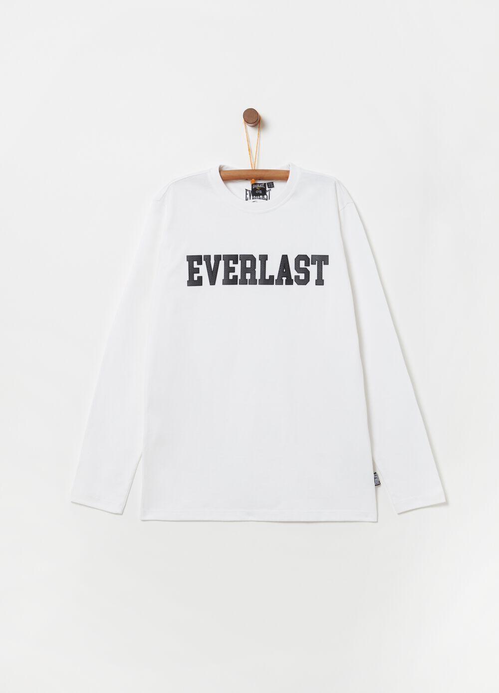 T-shirt with Everlast print and long sleeves