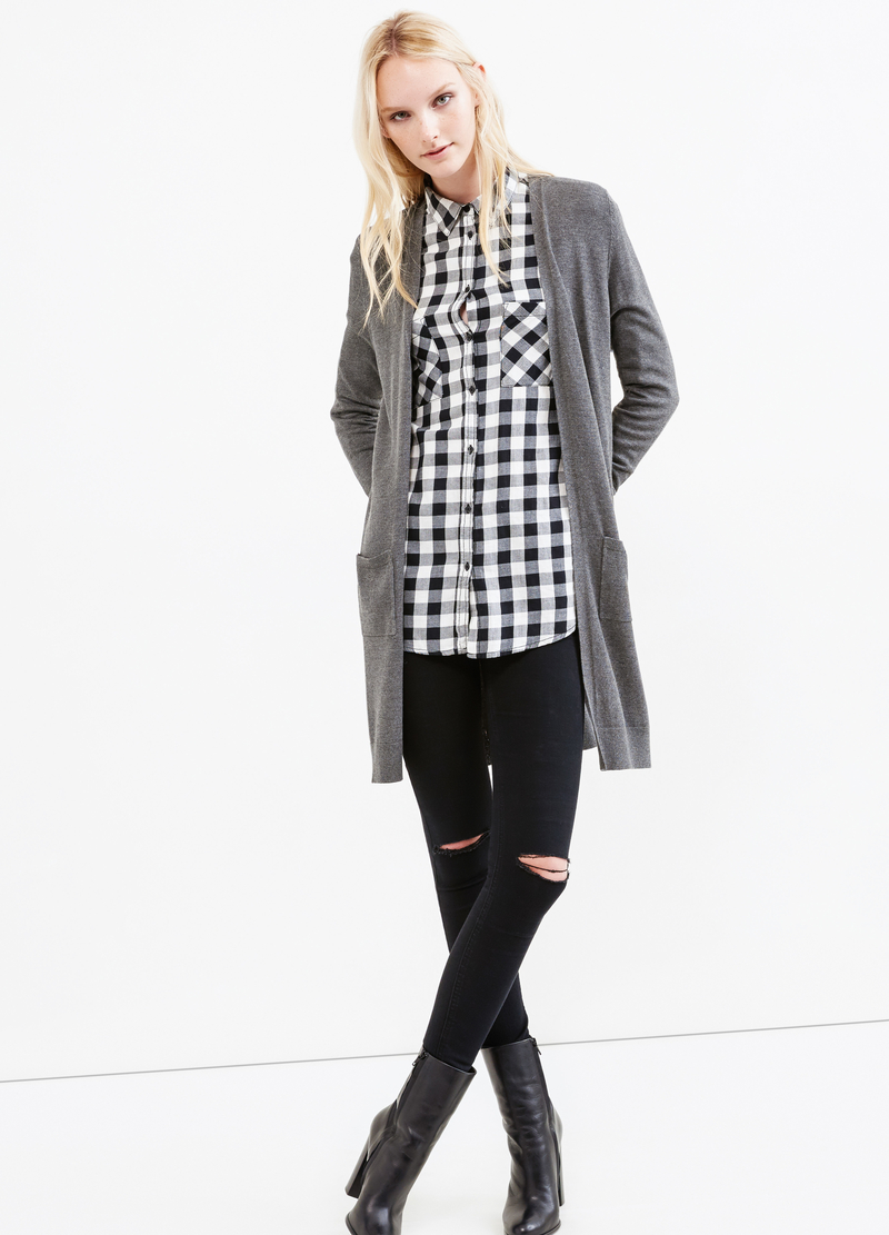 Long cardigan without buttons image number null