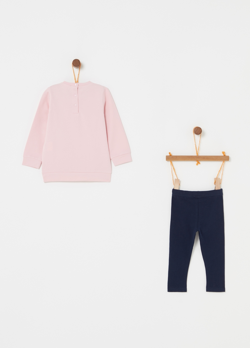 Jogging set in biocotton stretch image number null