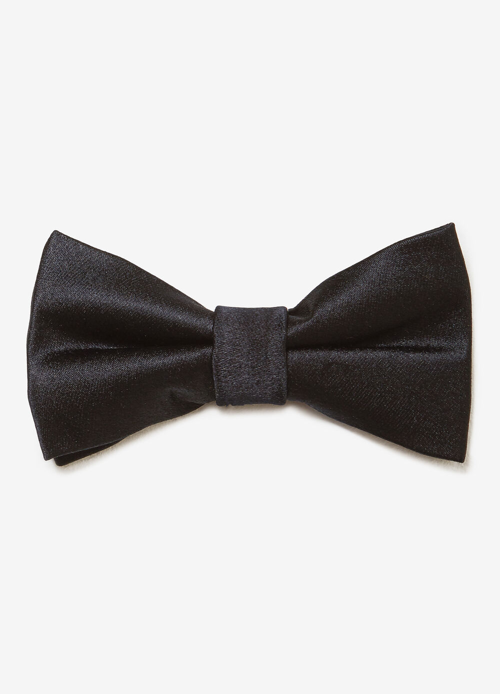 Solid colour satin bow tie