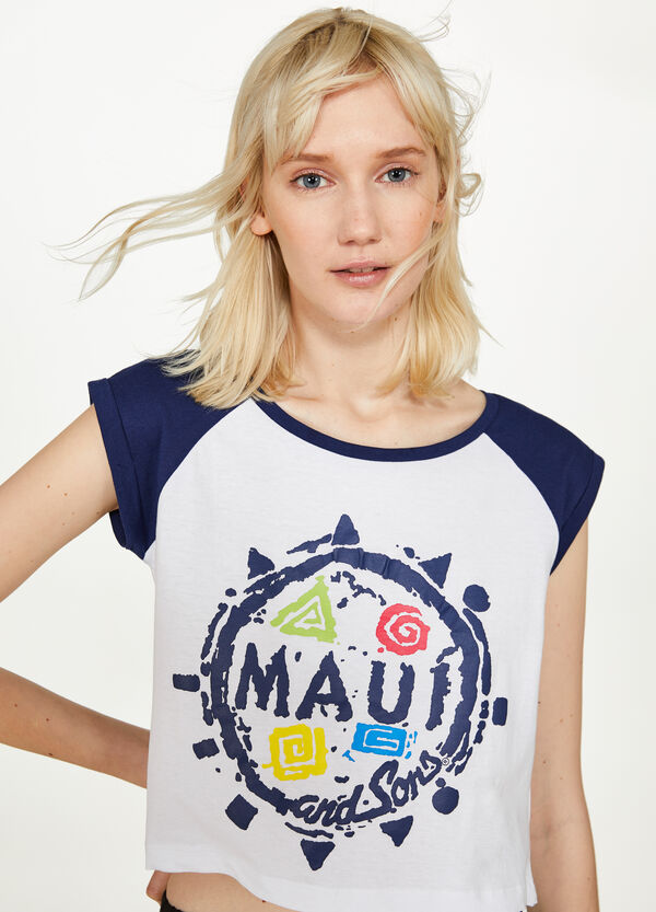 T-shirt cotone stampa Maui and Sons