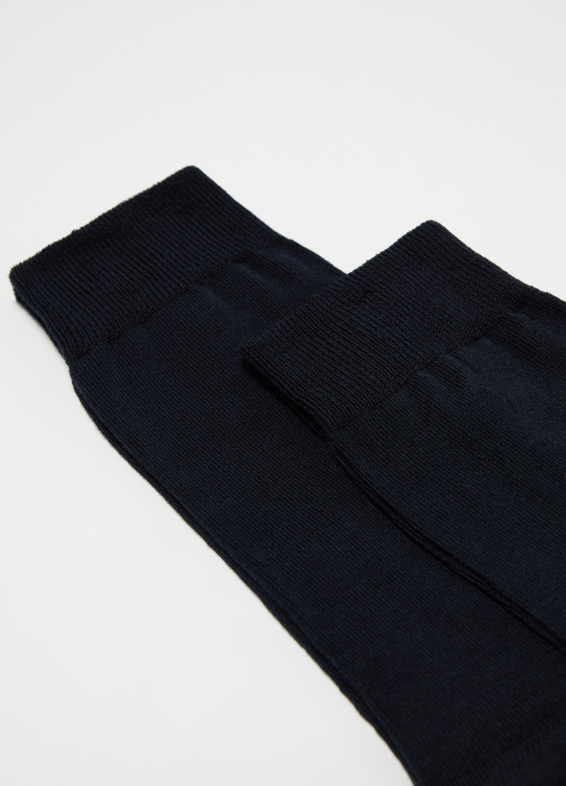 Two-pair pack long stretch cotton socks image number null
