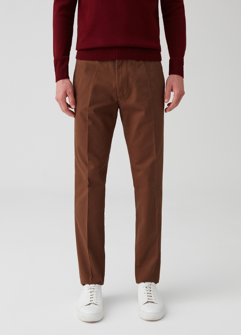 100% cotton trousers with pockets image number null