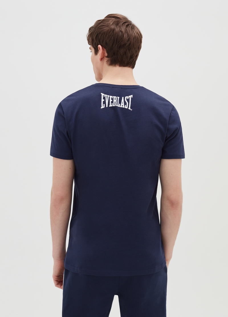 Cotton T-shirt with Everlast print image number null