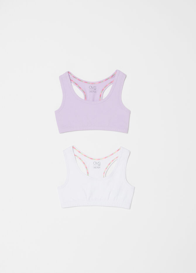Two-pack stretch biocotton gym tops