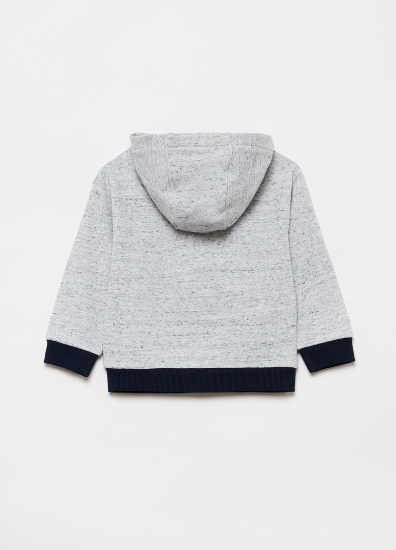 Full-zip sweatshirt with hood and pockets image number null