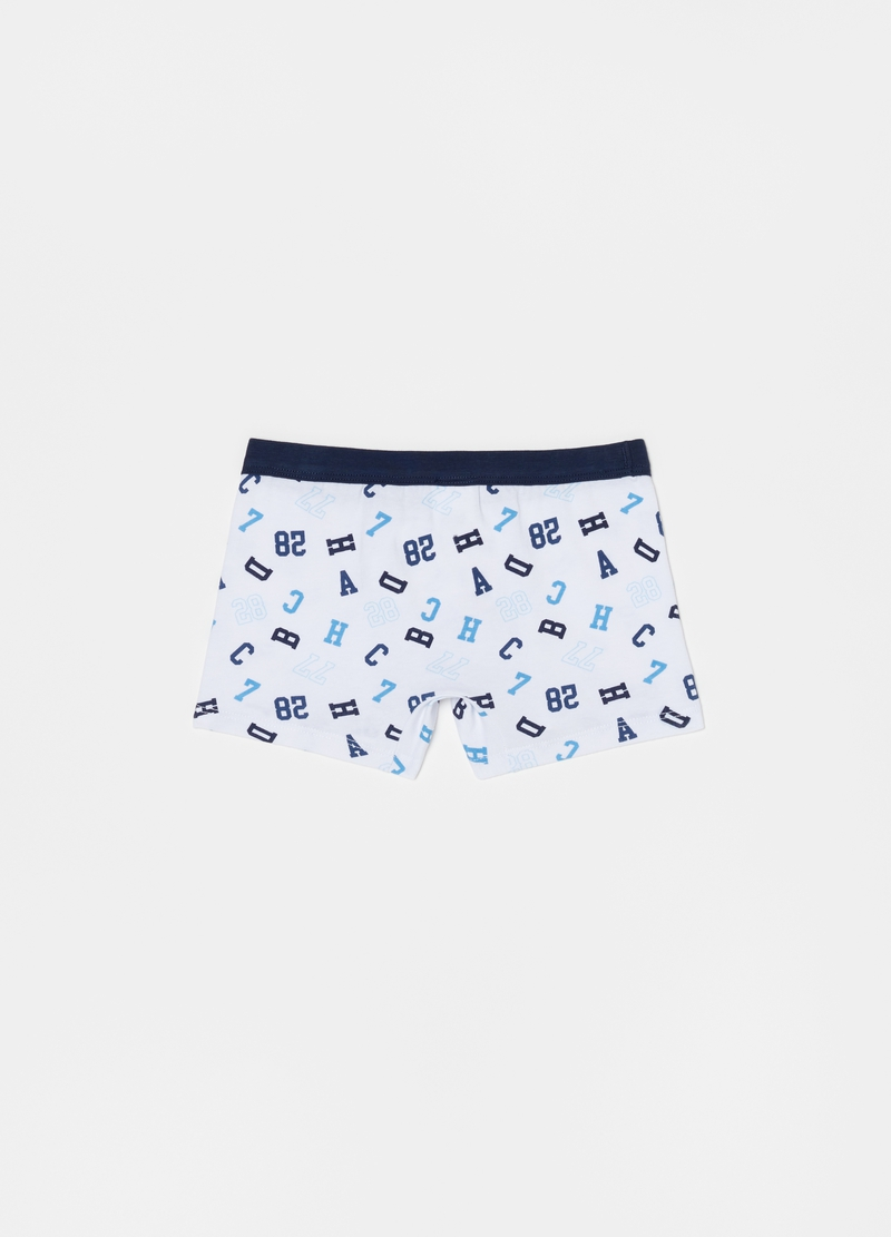 Stretch cotton boxer shorts with all-over print image number null