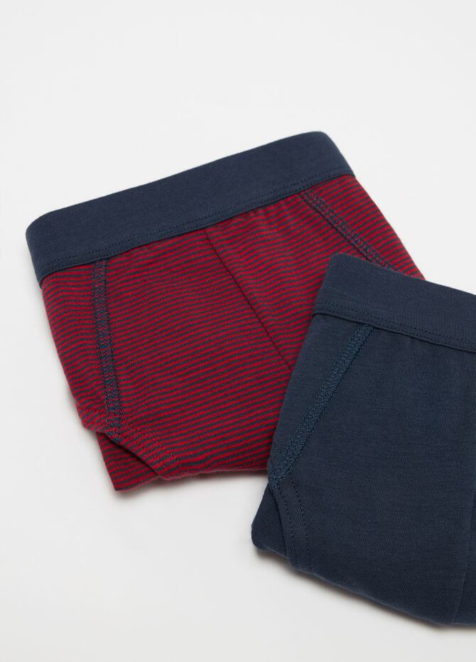 Two-pack briefs in yarn-dyed stretch cotton