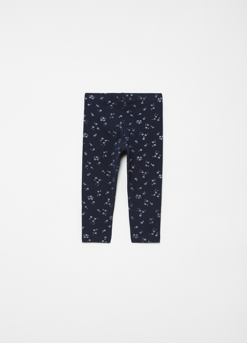 Leggings stampa fiorellini all-over image number null
