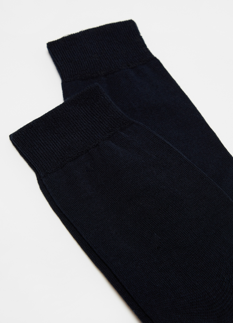 Two-pair pack long cotton blend socks image number null