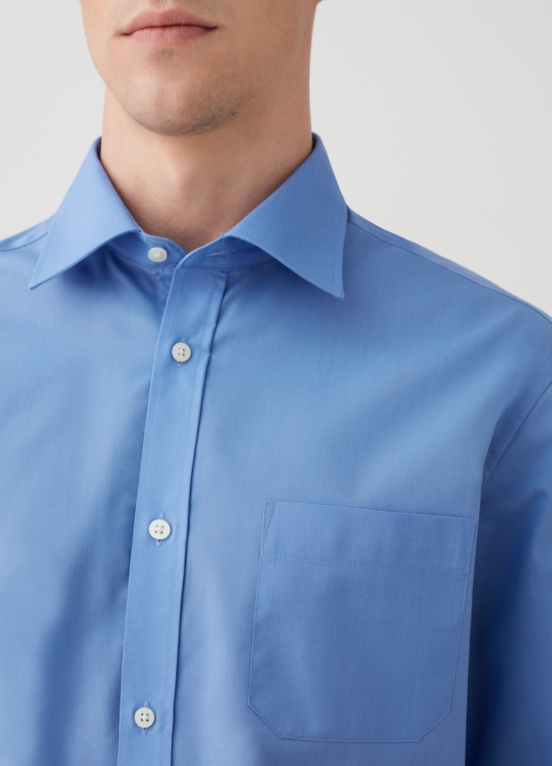 Camicia regular fit con taschino image number null