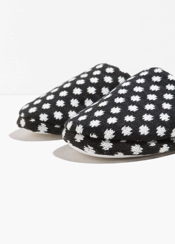 Jacquard slippers with jacquard pattern