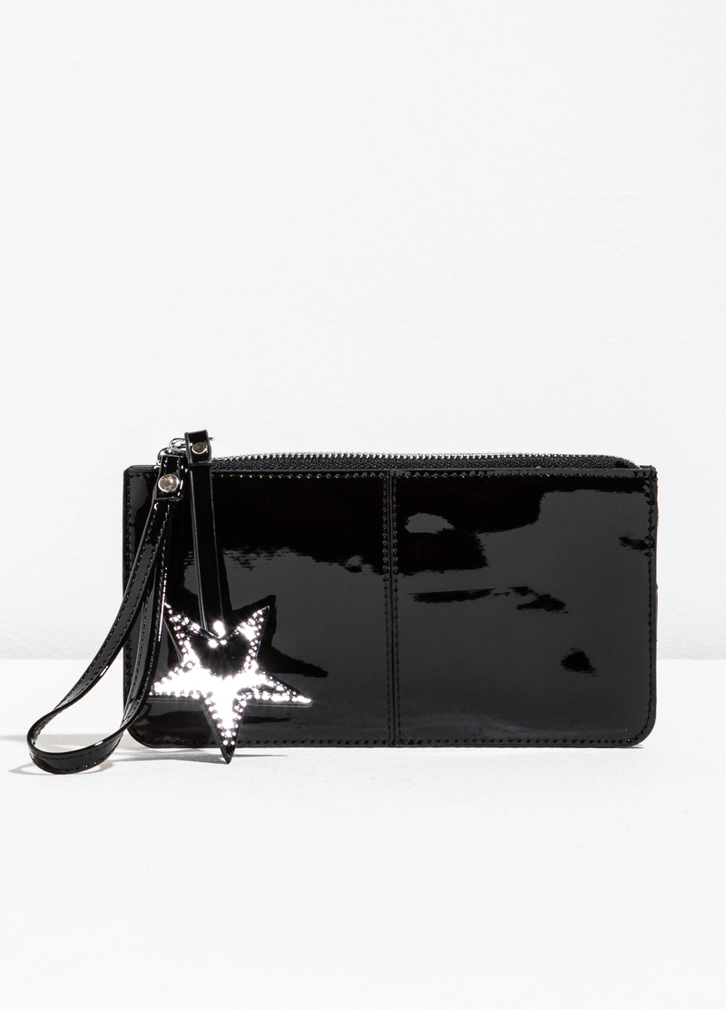 Shiny purse with wrist strap image number null