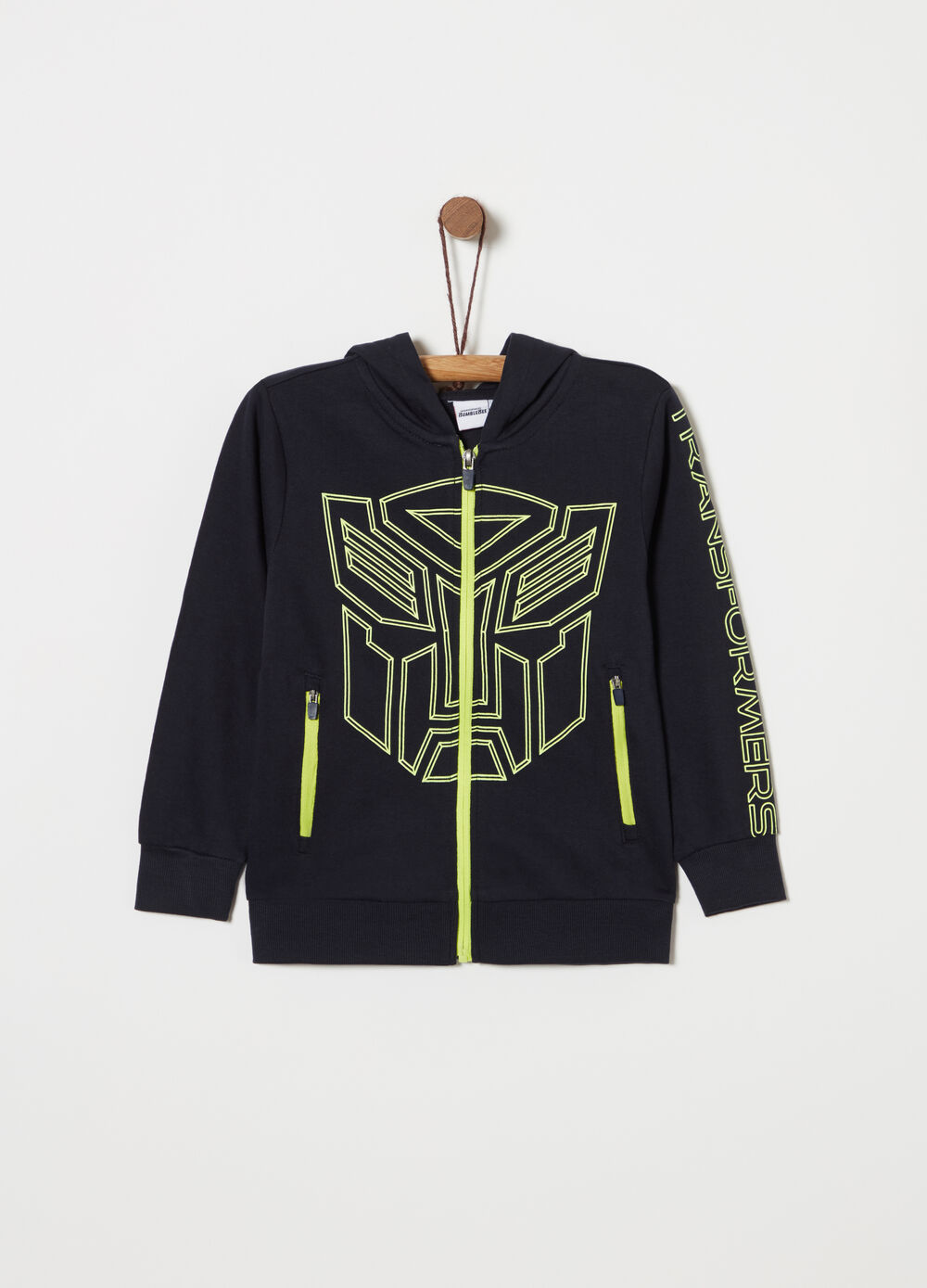 Felpa Transformers full-zip leggera