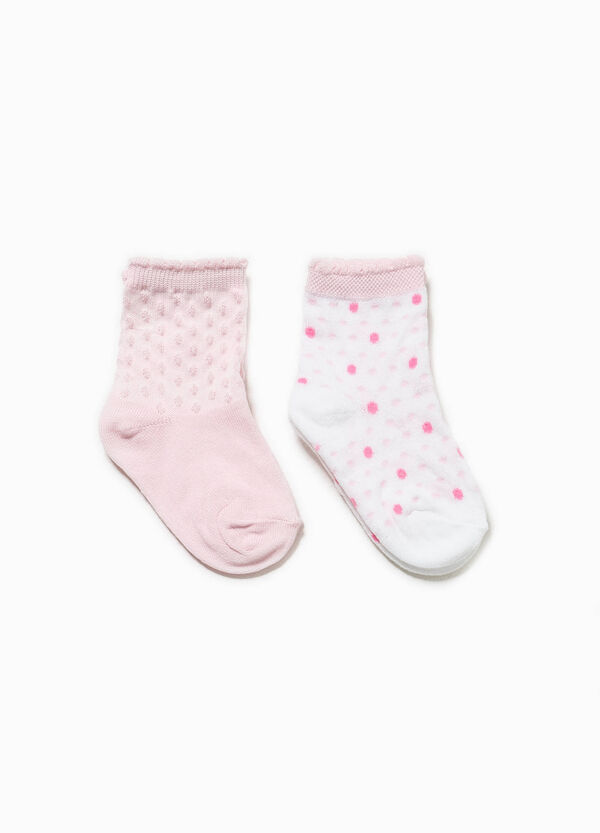 Short socks with speckled weave and polka dots | OVS