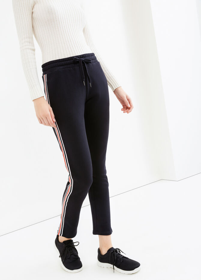 Joggers with contrasting colour side bands