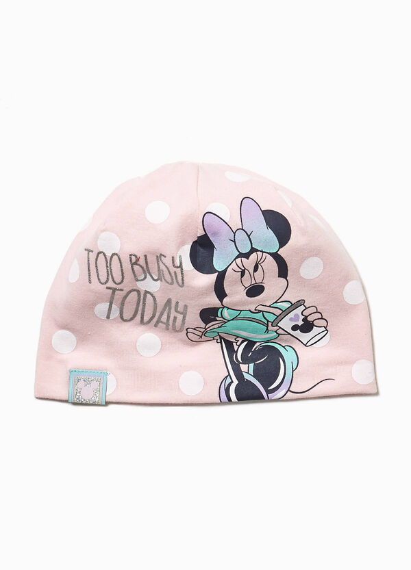 Beanie cap with polka dot Minnie Mouse