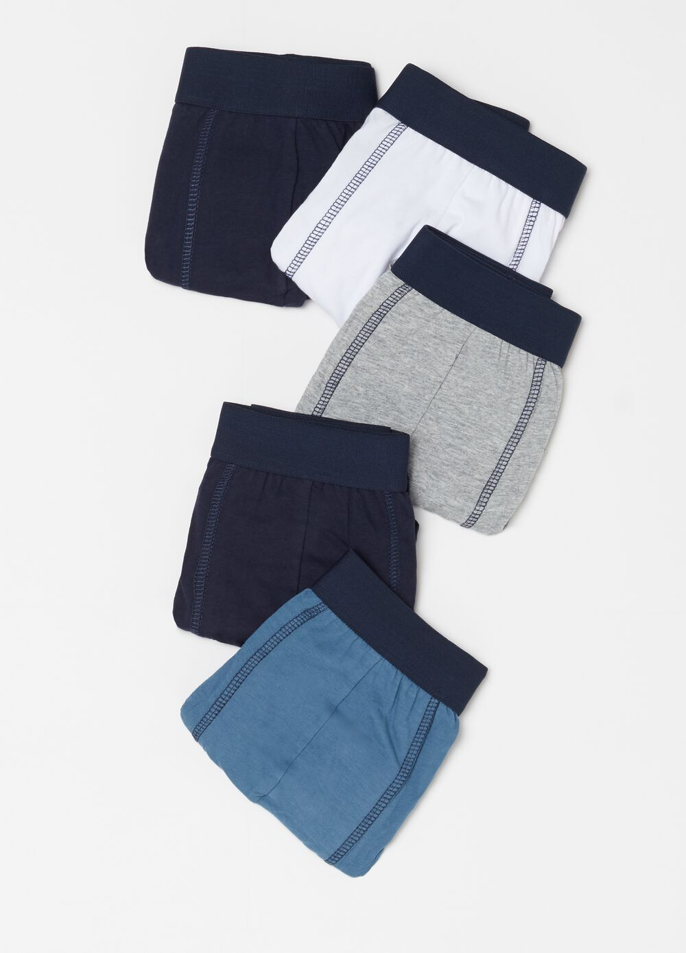 Five-pack cotton boxer shorts in assorted colours