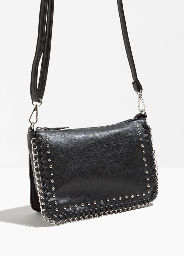 Textured-effect bag with studs | OVS