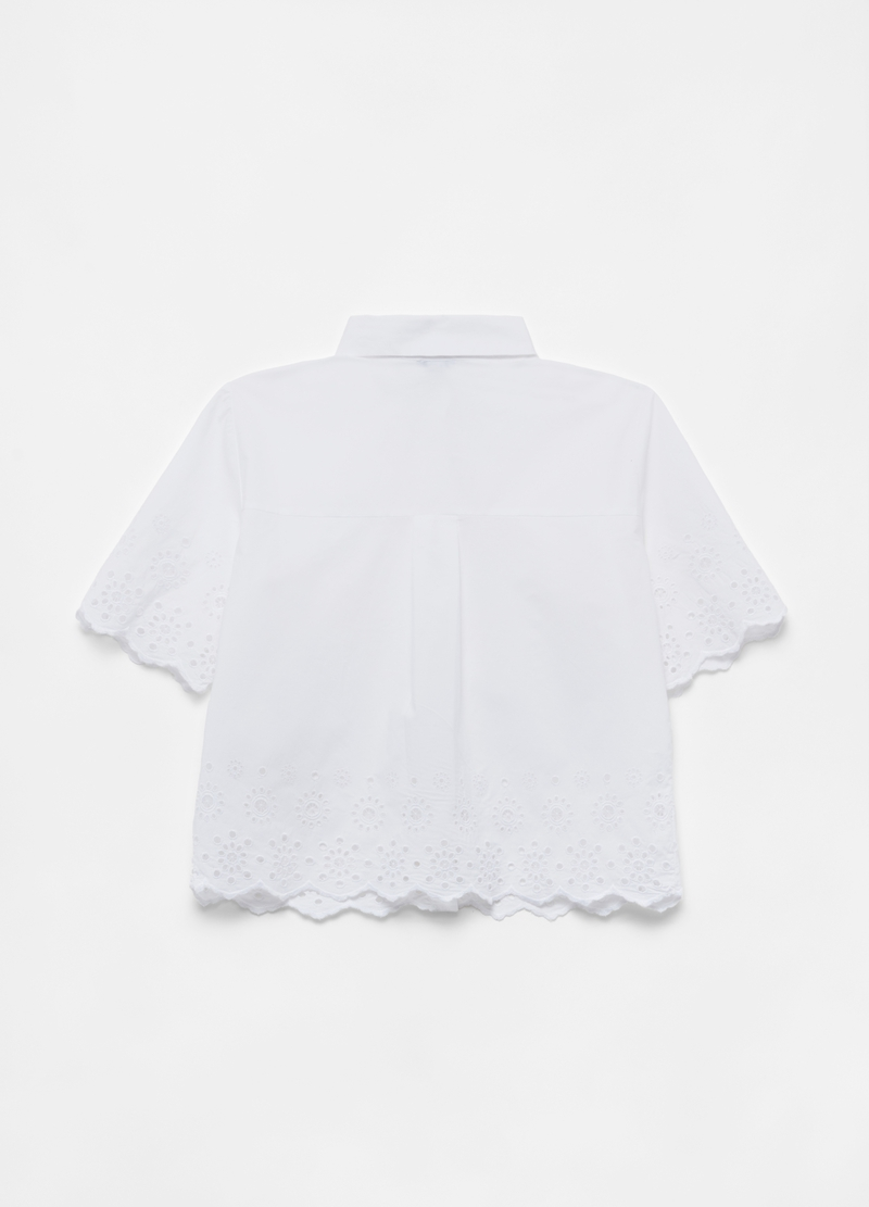 Shirt with broderie anglaise details image number null