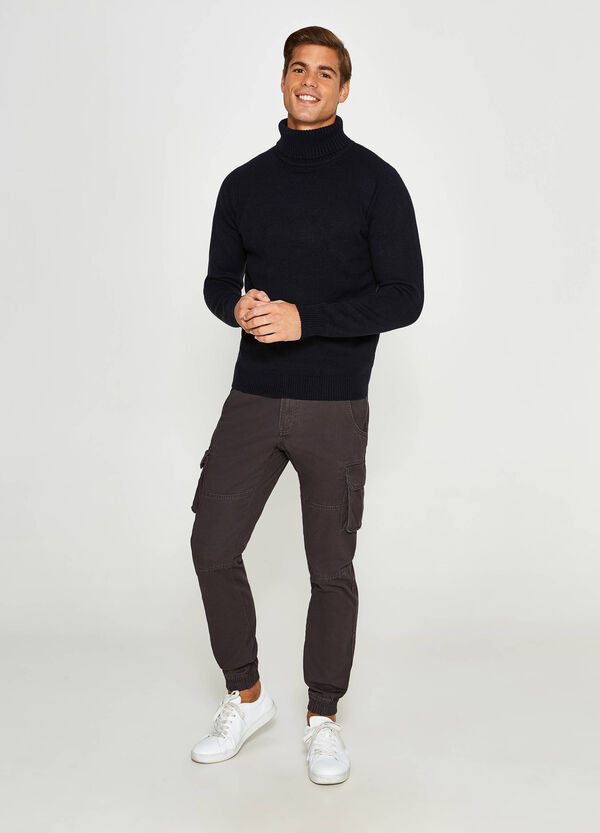 100% cotton cargo trousers | OVS