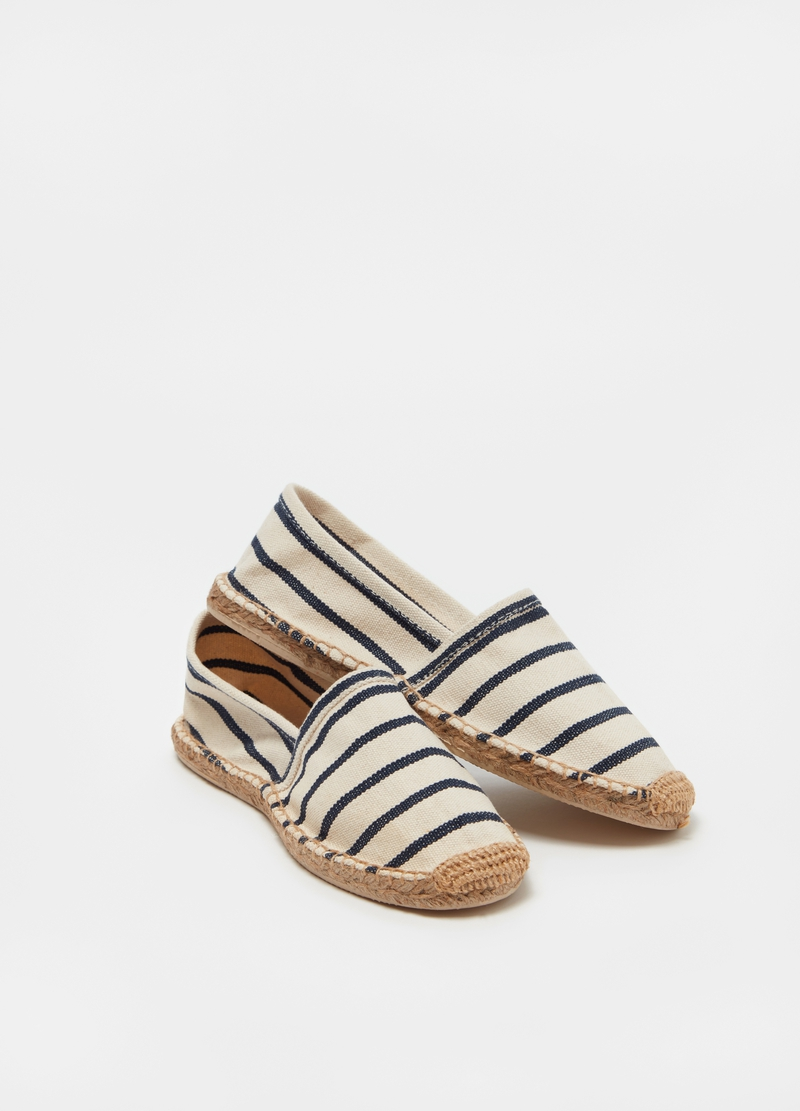 Striped espadrilles in cotton image number null