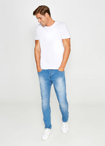 Jeans loose fit stretch effetto used