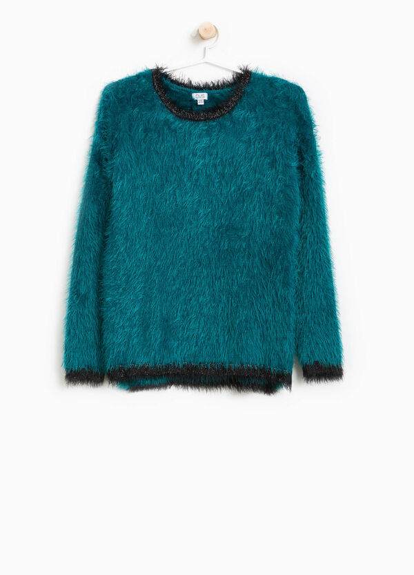 Frayed pullover with glitter ribbing | OVS