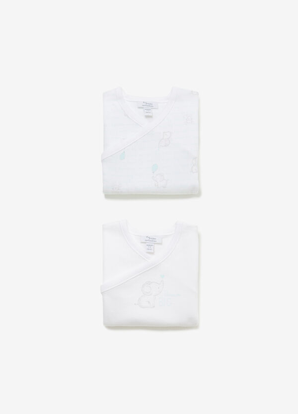 Two-pack cotton bodysuits with animals
