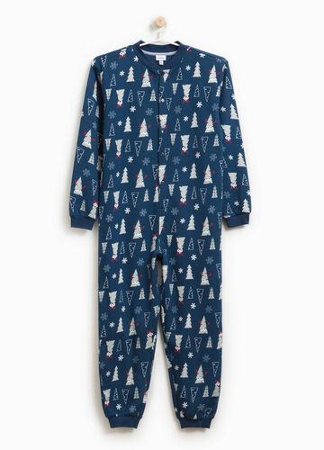 Cotton blend patterned tracksuit