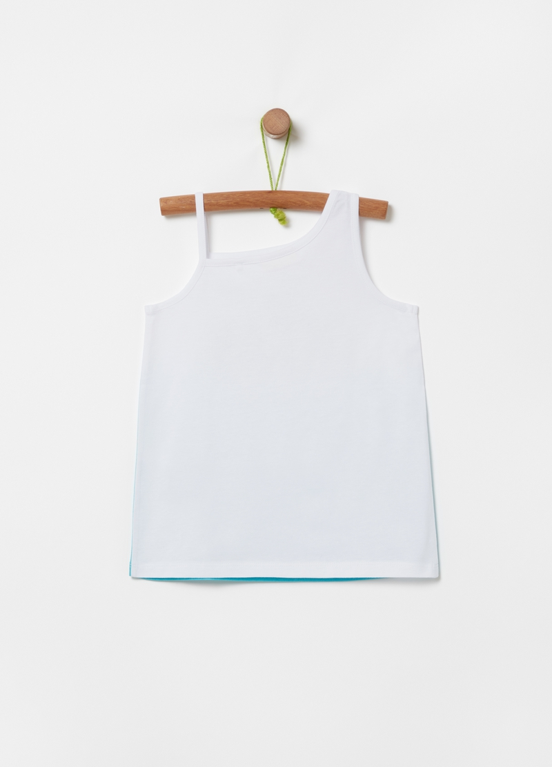 Degradé tank top with lettering print image number null
