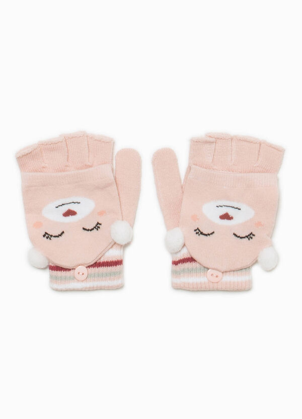 Fingerless gloves with animal mittens | OVS
